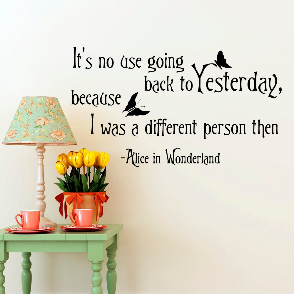 Alice in wonderland wall decal quote its no use going zoom amipublicfo Images