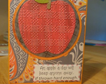 Humorous apple card
