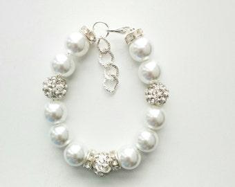 flower girl jewelry, bridesmaid bracelet, baby jewelry, baby girl bracelet, kids bracelet, toddler bracelet, baptism baby bracelet