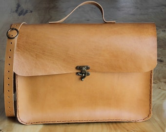 "Natural Brown laptop bag 15"",macbook bag,leather briefcase"