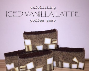 Exfoliating Iced Vanilla Latte Coffee Soap