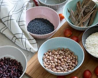Ceramic Mixing Bowl Set, Ceramic Soup Bowl , Ceramic Serving Set Of 4, Wedding Gift, Urban Home Decore