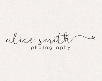 Photography Logo | Initial logo | Modern Logo | Heart Logo | Cute Logo | Signature Logo | Business Logo