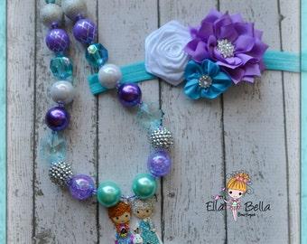 Frozen inspired girls necklace
