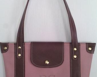 Original bi color old pink and Brown handbag