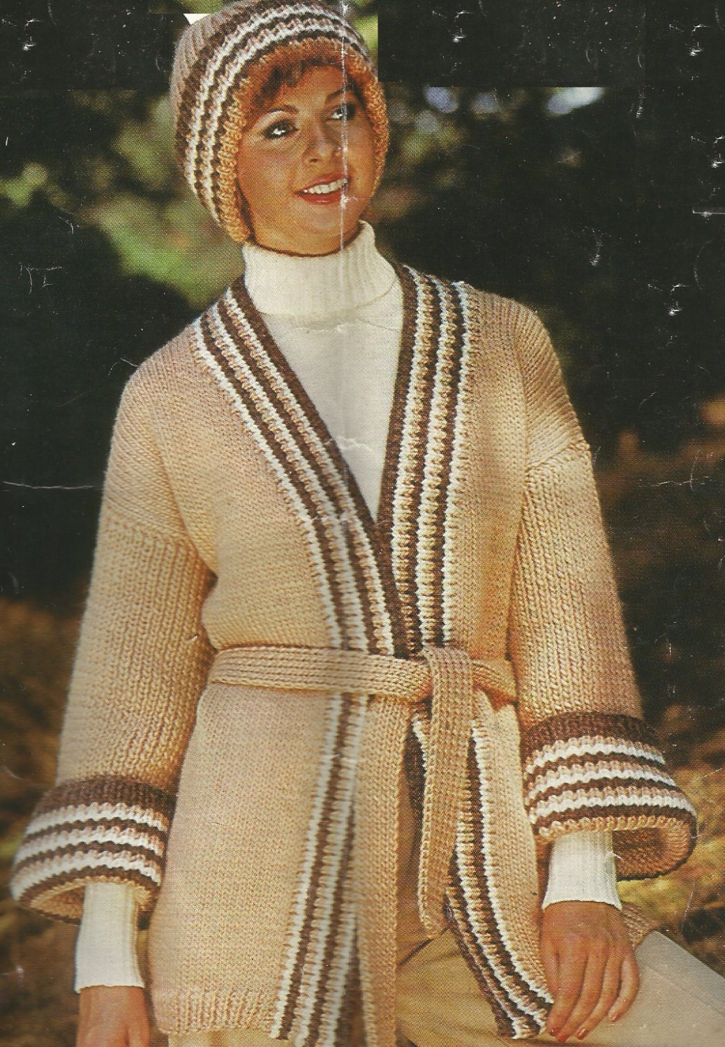 dac88199a Vintage Ladies Long Chunky Jacket And Hat Knitting PDF Pattern from  CraftyKittenCorner on Etsy Studio