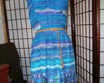 Women's Spaghetti Strap Dress - Leather Belt