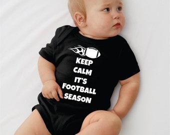 Keep Calm It's Football Season. Baby onesie.Infant bodysuit.