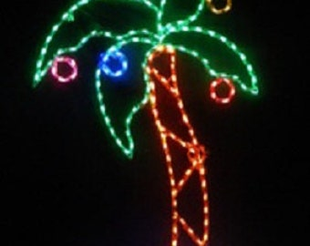 Merry Christmas Palm Tree with Gifts Outdoor Holiday Yard Decoration Commercial Quality
