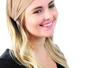 Boho Headband Hair Wrap Fashion Headband Headwear Semi Turban Toasted Sand By Simply Martha
