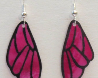 Silk Butterfly Wing Earrings