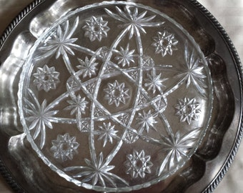 Prescut-Clear Glass Tray Round