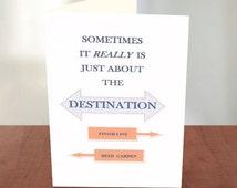 Funny Card for Runners -  Runner Card - Gifts for Runners - Funny Running Quote - Marathon Card - Good Luck on Marathon - For a Runner -