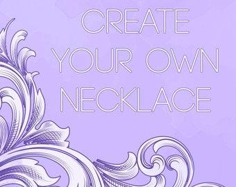 Create your own custom quartz crystal necklace! *Read item description*