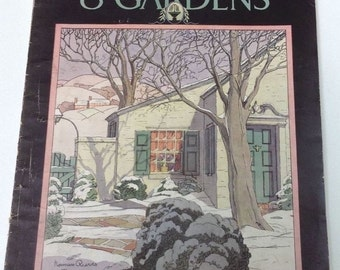 Better Homes and Gardens Magazine January 1930 Beautiful Great Ads Vintage