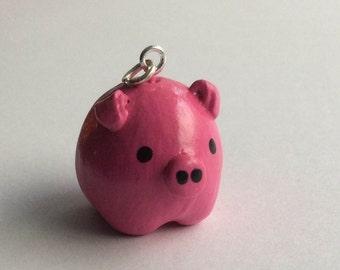 Cute Pink Piggy Charm