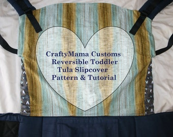 TODDLER size Tula Slipcover Printable Pattern & Tutorial- with leg panels, hood access instructions and seat darts (no elastic)