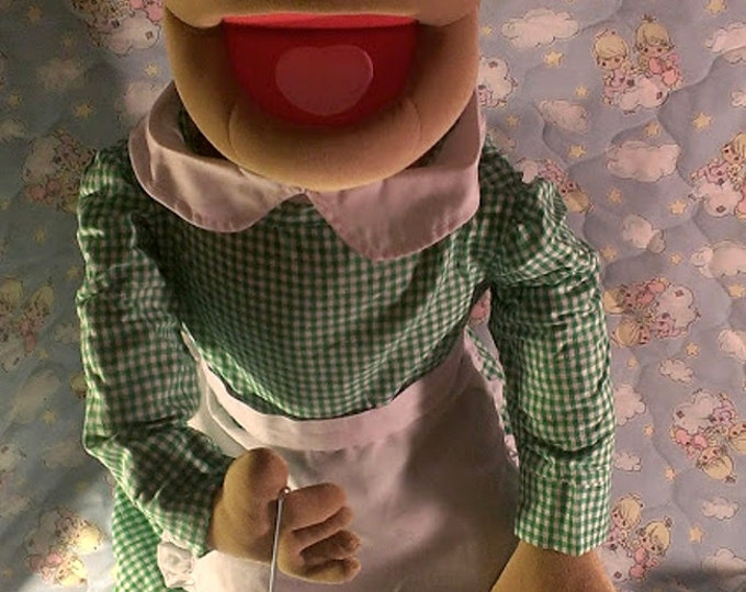 "Grandma Puppet - Large 30"" Full or Half Body Arm Rod Puppet for Professional Puppetry by Puppets for JESUS  Granny"