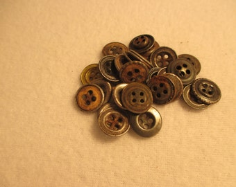 Set of 30 Vintage Steel Buttons