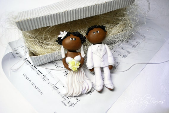 Items Similar To African American Wedding Magnets Or Cake Toppers On Sticks