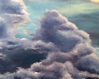 Original Cloud Oil Painting - Hand Painted - Ready to Hang