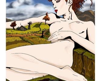 Lady Autumn 8.5 x 11 Print