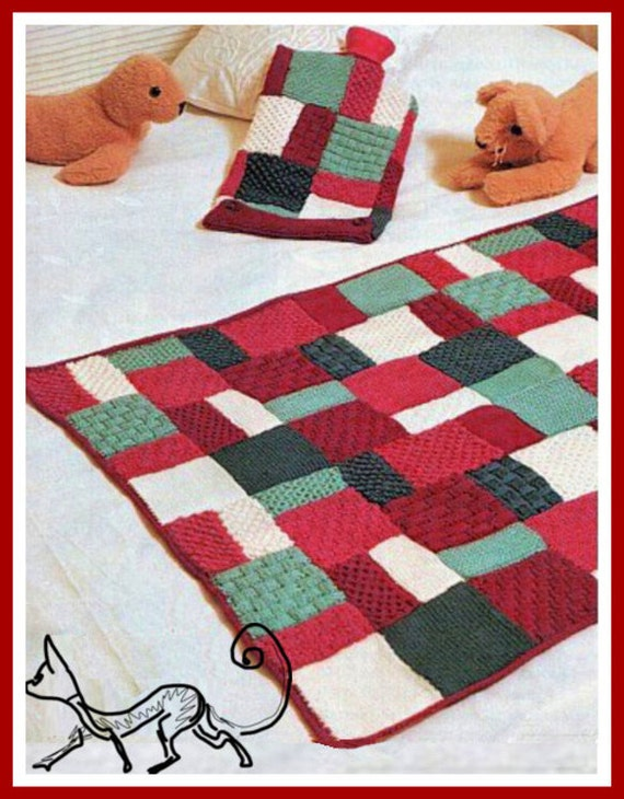 Easy Knitting Patterns For Throw Rugs : Instant Download PDF Vintage Knitting Pattern Easy by ickythecat