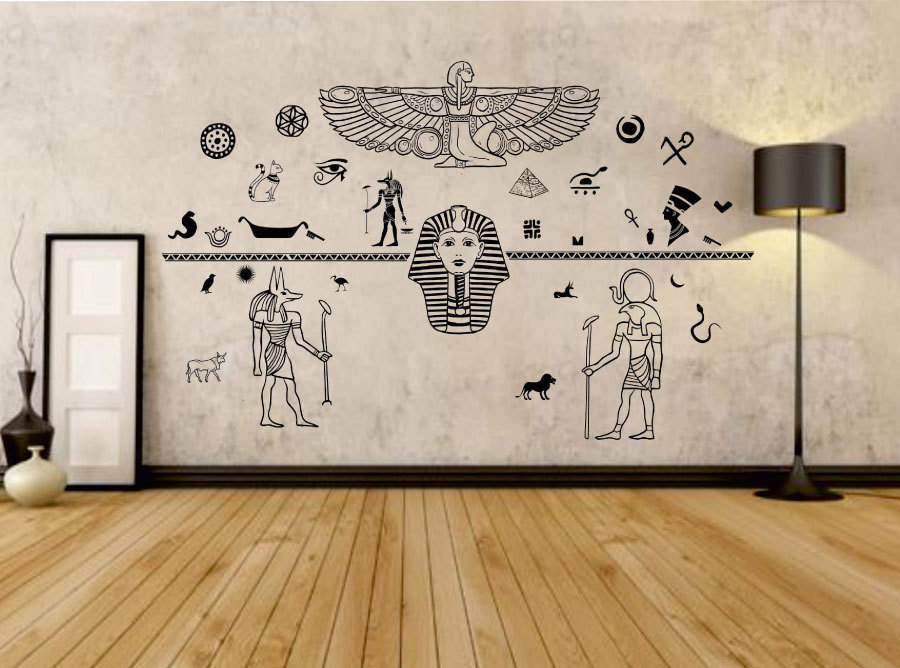 Ancient Egypt Decals Egyptian Art Wall Decal Gods Of