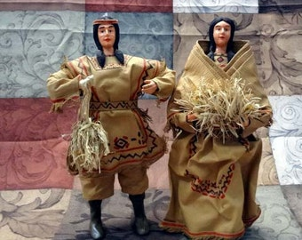 Native Americans made of papermache