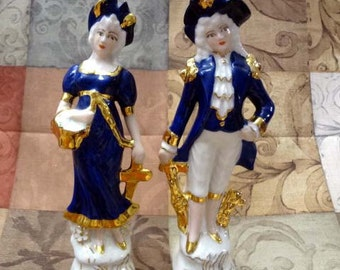 Beautiful BAS Relief Colonial Figurines