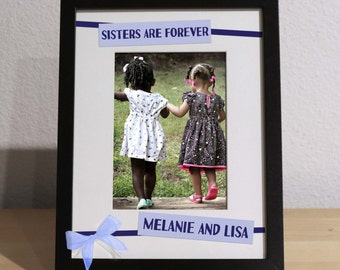 Christmas Gift for Sister, SISTERS PICTURE FRAME, Gift for Sister, Sister Xmas Gift, Big Sis Little Sis, Cousins Gift, Gift from Sister