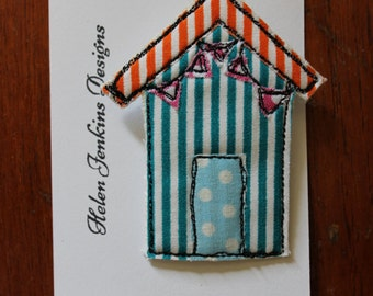 Beach Hut Brooch