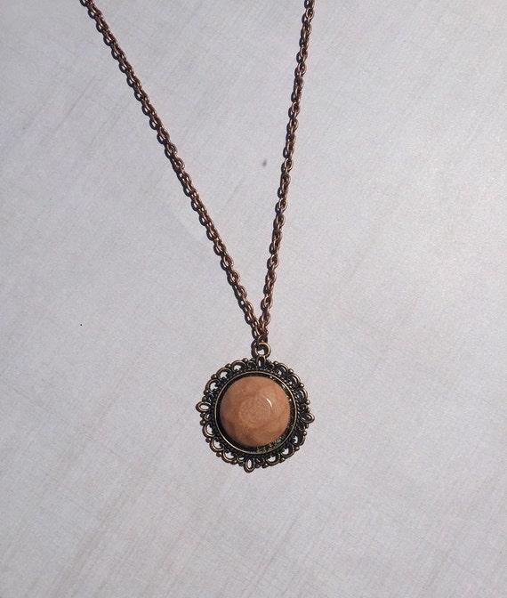 Terracotta Neck Pendant Diffuser ~ Victorian terracotta clay diffuser necklace by staggsquare