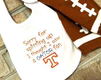 Vol Baby | Tennessee Baby | Football Leg Warmers | Vol Accessories | Football Onsie | Vol Bib | Team Bib | UT Bib | Legwarmers | Volunteers