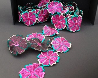 antique pink flower strap 4 m