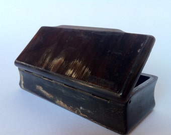 Victorian Animal Horn Snuffbox-Victorian animal Horn snuff box