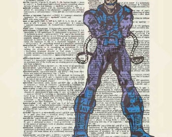 Marvel Comics Apocalypse on dictionary page print