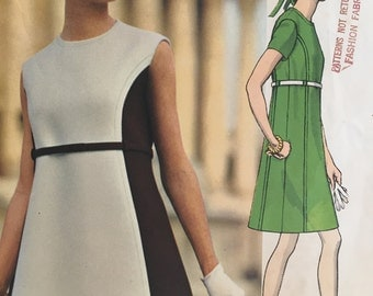 Vintage 1960s Vogue Couturier Design 1930 Simonetta of Italy Dress Sewing Pattern Size 10
