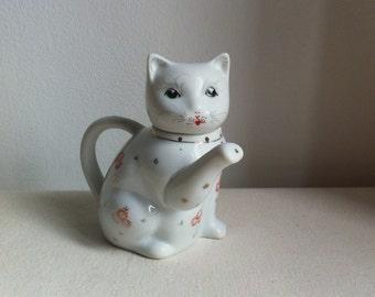 Vintage Cat Tea Pot