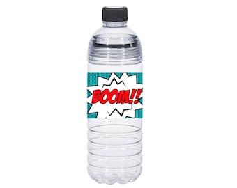 Super Hero Water Bottle Labels Instant Download