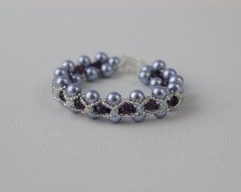 Lilac & Purple Beaded Bracelet