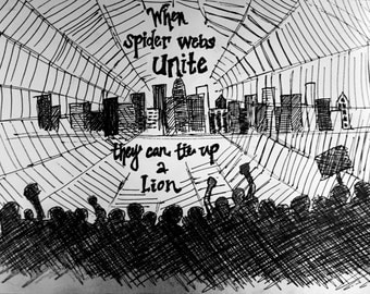 When Spider Webs Unite Print