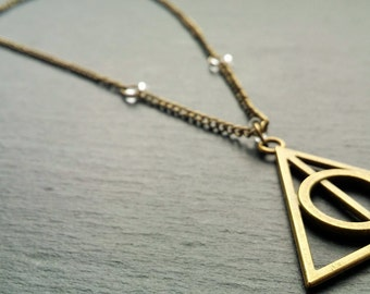 Harry Potter Deathly Hallows Necklace Charm