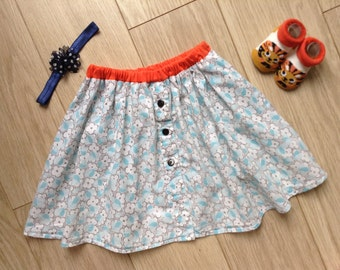 Elegant skirt with buttons, size 4T-5, age 4-5 years, toddler, little girls