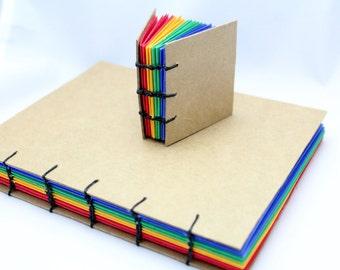 Handbound Journals Set with Rainbow Pages