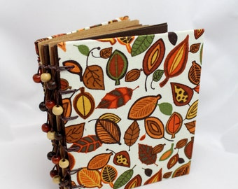 Brown Fall Autumn Themed Small Handbound Journal