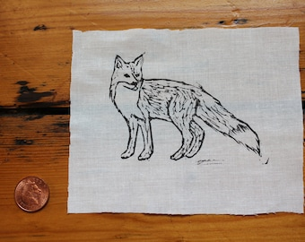 Fox Linocut Patch