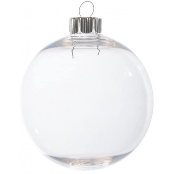 bulk case shatterproof plastic 83mm ornament x 32 pieces per