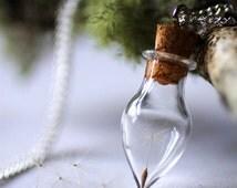 Dandelion Wish Necklace in Glass Vial