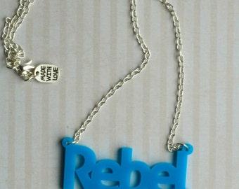 Blue Rebel Girl Necklace